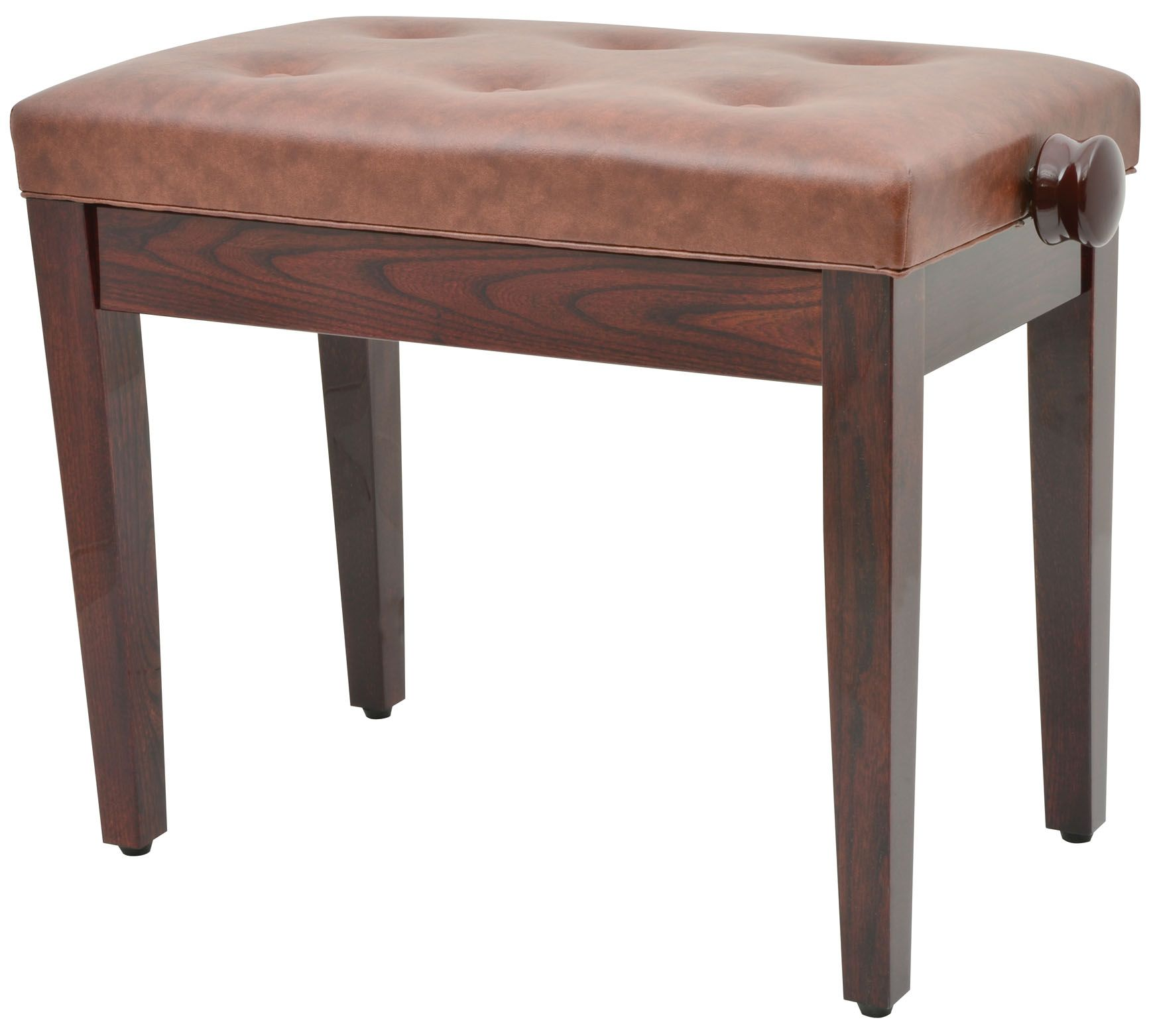 Piano Keyboard Bench Stool Seat In Brown With Storage 180
